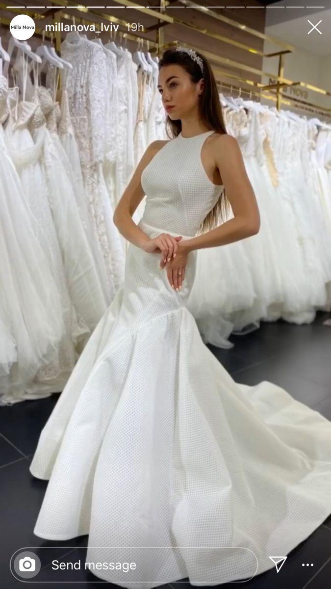 Simple elegant wedding dresses gowns with fishtail Milla Nova ...