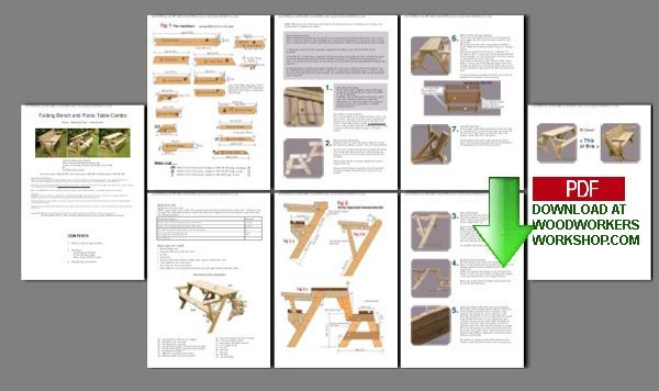 Plans Picnic Table Bench Combo - WoodWorking Projects & Plans