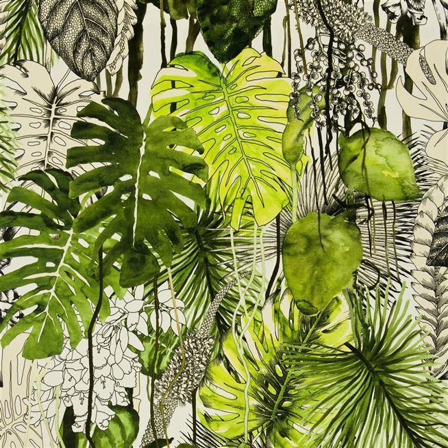 soft jardin exo'chic - rainette Leafy Pattern Foliage repeat design