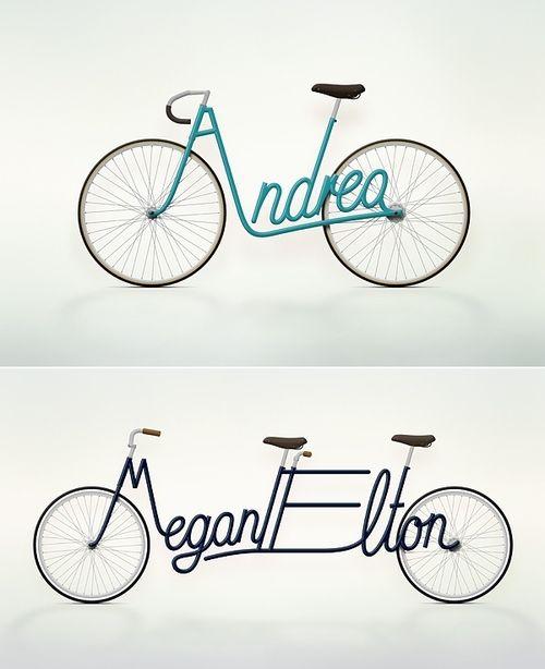 "Um. Hello? Bike #1 = Perfect. ""Personalized bicycle concept by Paris-based graphic designer Juri Zaech."""
