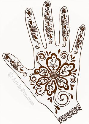 "Henna hand designs - ""Self-portrait"" in that the patterns and imagery you choose reflect who you are, your personality, your essence, your own unique flair...also there are many design ideas and ""how tos"" on the post..."