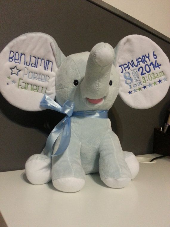 10 best stuffies images on pinterest elephant elephants and cubbies personalized baby cubbies embroidered stuffed by hiboutchoux 3495 negle Gallery
