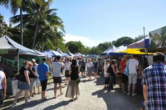 The buzzing market Port Douglas