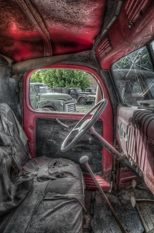 This is a truck that is one of about 50 seen in a vacant lot in Sprague, Wa. HDR processing to get this look.