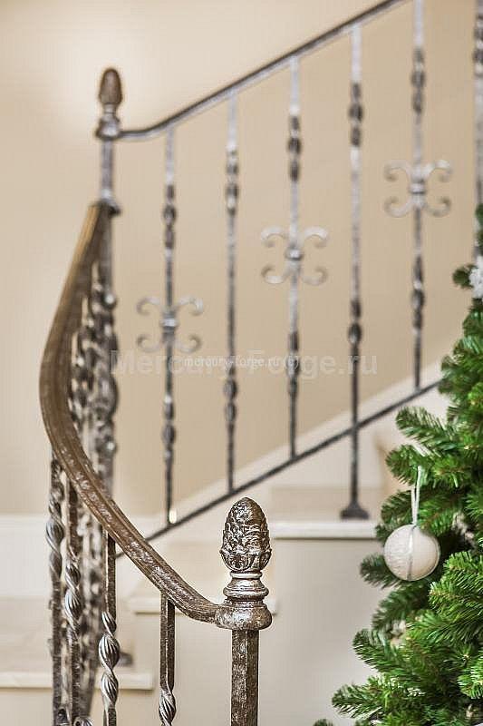 Кованое ограждение лестницы - «Mercury Forge» #stairs #decor #home #grandeforge #tradition #mercuryforge #лестницы #ограждения #традиция #москва #дом #интерьер
