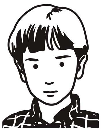 Julian Opie and Lisson Gallery Raphael, schoolboy (2000) by Julian Opie