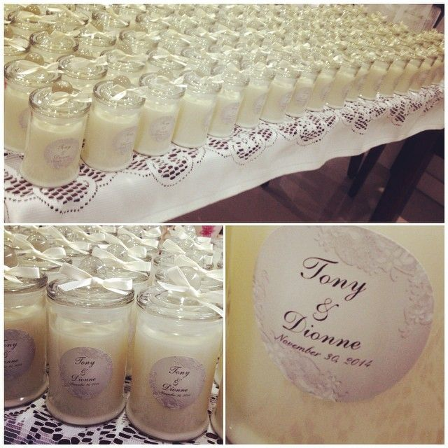 #wedding #candle #bombonieres made for Tony & Dionne xoxo #coconutandpineapple #soycandles