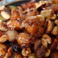 SCD Kung Pao Chicken.  Raman Prasad's timeless Chinese specialty.  Mock Soy Sauce recipe is here too.  Can substitute red pepper flakes for chilies.