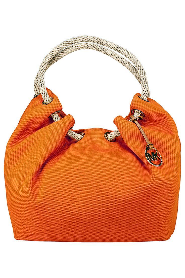 Michael Kors Marina Tangerine Large Shoulder Tote