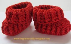 Happiness Crafty: Baby Booties ~ Free Pattern: Newborn to 12 mth sizes