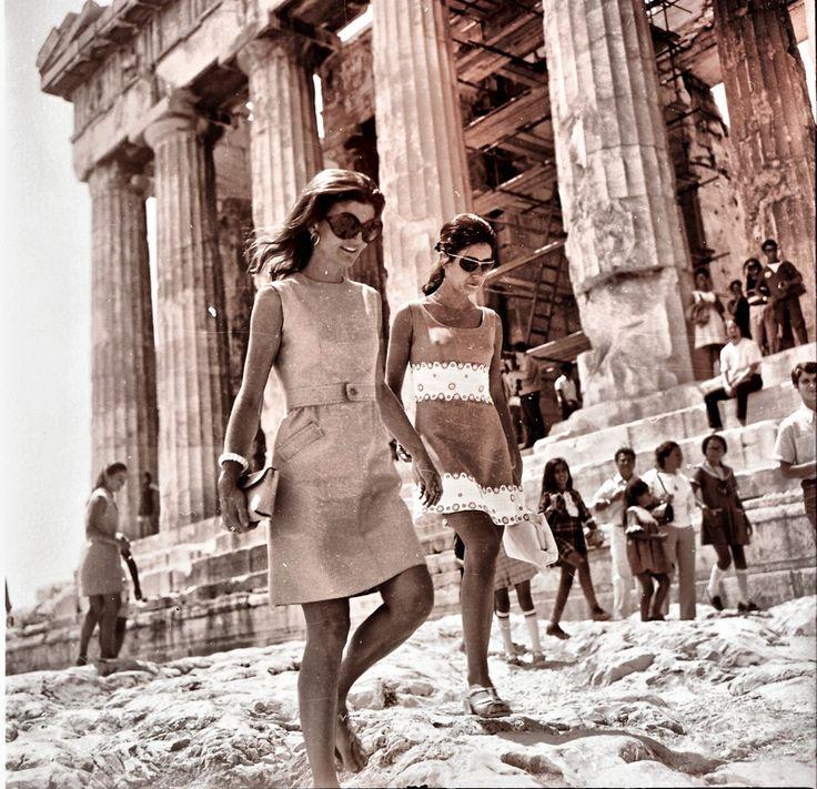 Jackie Onassis at the Acropolis