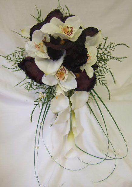 Orchid Wedding Bouquets | Orchid Calla Lily and Iris Bridal Bouquet - review, compare prices ...