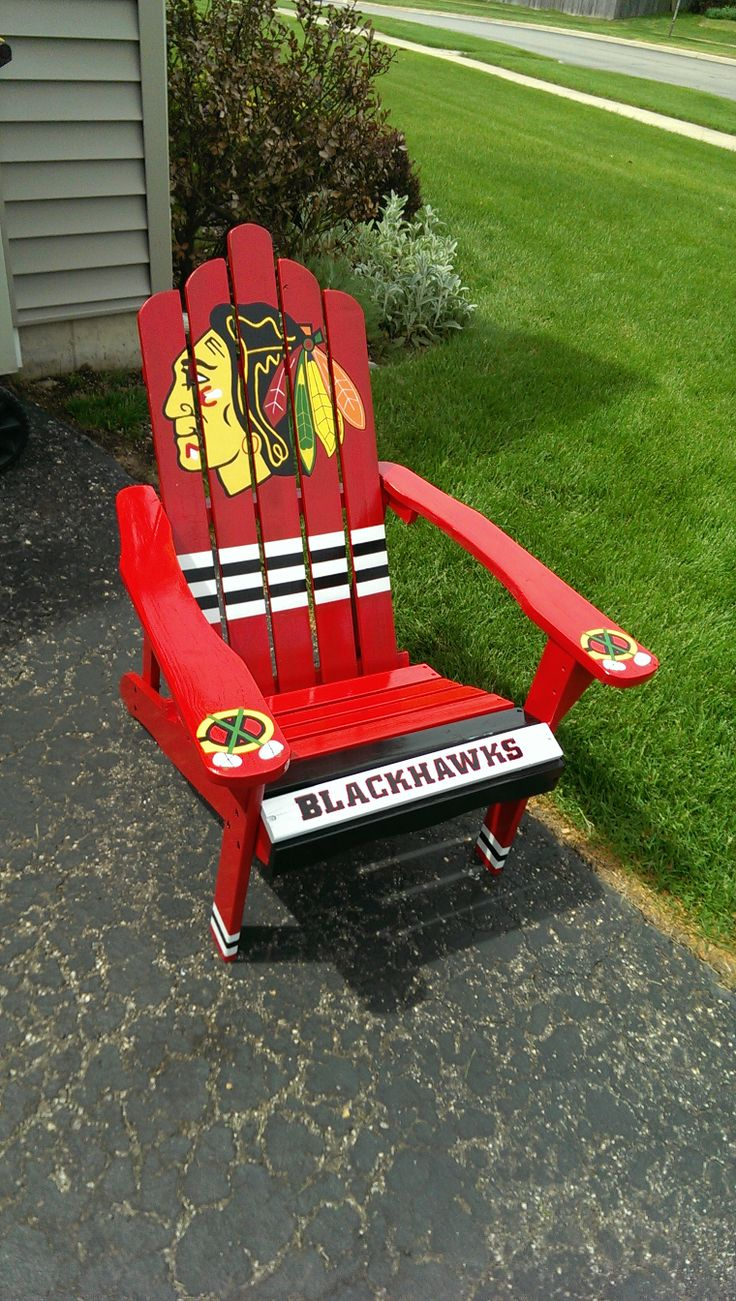 Blackhawks chair custom paint job. 30 best Chicago Blackhawks images on Pinterest   Chicago