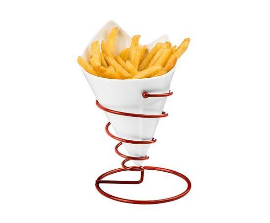 Чаша для картофеля фри на подставке - фарфор, Ø11х18 см