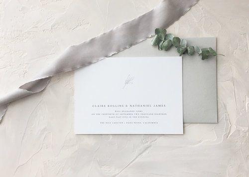 Claire Wedding Invitation Deposit