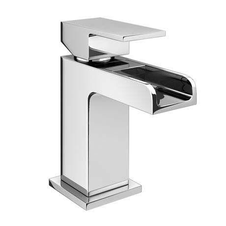 Plaza Waterfall Cloakroom Mini Basin Tap + Waste