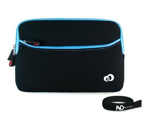 Samsung Galaxy 7-inch Android Tablet Black and Blue Neoprene Glove Sleeve Case Series with Front Pocket for Extra Storage + NextDiaTM Velcro Cable Wraper by Kroo. Save 11 Off!. $7.99. Samsung Galaxy 7-inch Android Tablet Black and Blue Neoprene Glove Sleeve Case with Zipper Pocket for Extra Storage Neoprene Sleeve Case with Zipper Closure for Samsung Galaxy 7-inch Android Tablet. Its portable and compact design allows it to be carried alone or inside your Laptop bag, Tote, Briefcase, B...
