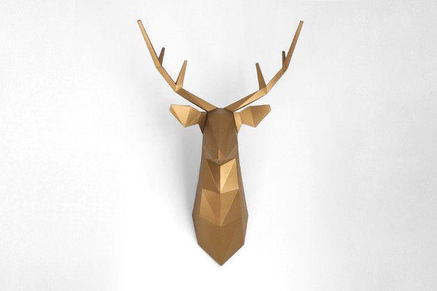 DIY Deer - FOLDIT - Ozdoby na ścianę