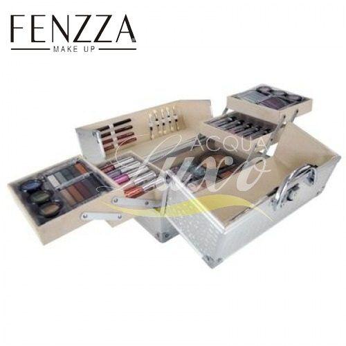 A maleta de maquiagem Fenzza foi elaborada especialmente para atender as necessidades de maquiadores profissionais e de amadores.  Fácil de transportar, elegante e perfeito para maquiar, colorir, realçar e iluminar o visual deixando você mais bonita em qualquer ocasião!