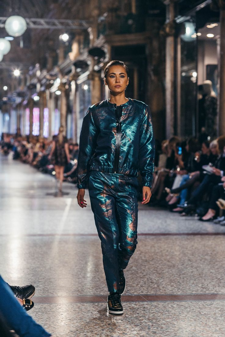 Metallic sportswear is luxurious, casual and wearable! | Harvey Nichols Leeds AW14 trends | Three Word Outfit | Photo by tomjoy.co.uk