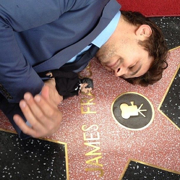 James and his doll receiving a star on the hollywood walk of fame: | Everything You Are Missing By Not Following James Franco On Instagram