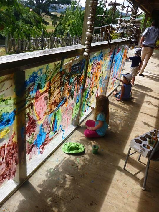 "Fab artwork happening at Matapihi Kindergarten ("",)"