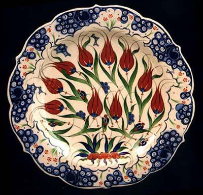 Ceramic plate from Iznik, Turkey