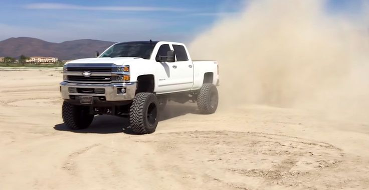 Vanilla cream donuts with a new 2015 Lifted Chevy Duramax - ChevyTV