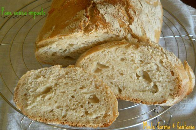 """fare il pane in casa non e' difficile, soprattutto se si utilizza il metodo del """"non impasto"""". venite a scoprirlo sul mio blog."""