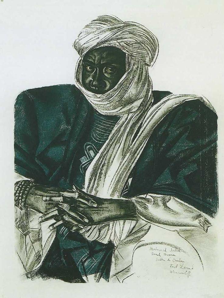 """Яковлев Александр Евгеньевич (1887-1938) """"Африканский султан"""""""