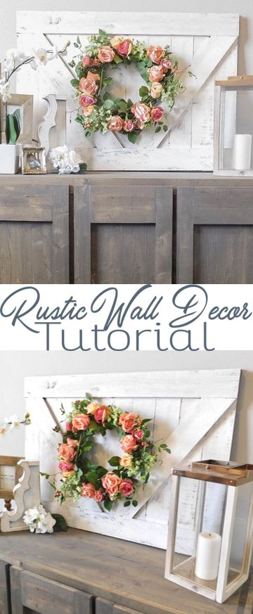 Home Décor Tutorial - Weaber Lumber Weathered Wall Boards