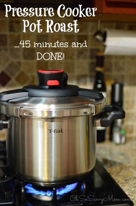Pressure Cooker Pot Roast with the T-fal Clipso Pressure Cooker