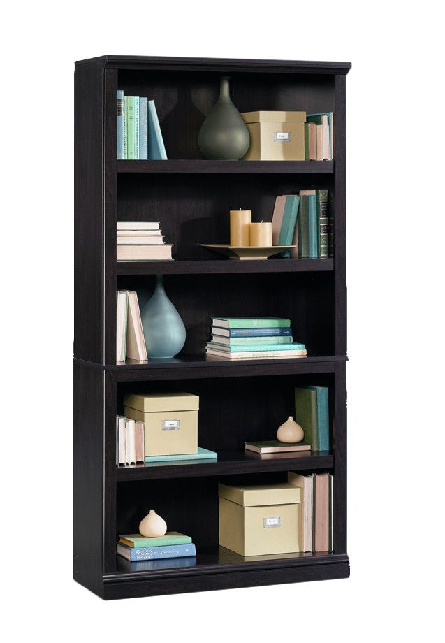 from the studio collection this sturdy bookcase features a dark jamocha finish and five shelves bookcase storage storage cabinets - Sauder Storage Cabinet
