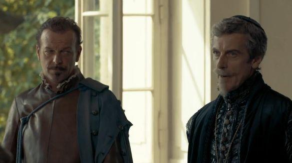 Hugo Speer and Peter Capaldi in S1 of The Musketeers