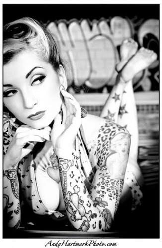 Girls, Cherries Dollface, Beautiful, Leopards Prints, Pinup, Pin Up, Tattoo, Cheetahs Prints, Ink