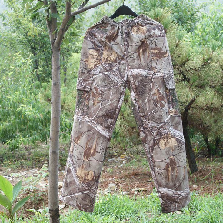 Открытый немой камуфляж охота брюки охотничий камуфляж брюки бионический камуфляж свободного покроя брюки джинсовая одежда круто-устойчивых камо брюки