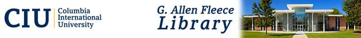 Columbia International University - G. Allen Fleece Library!