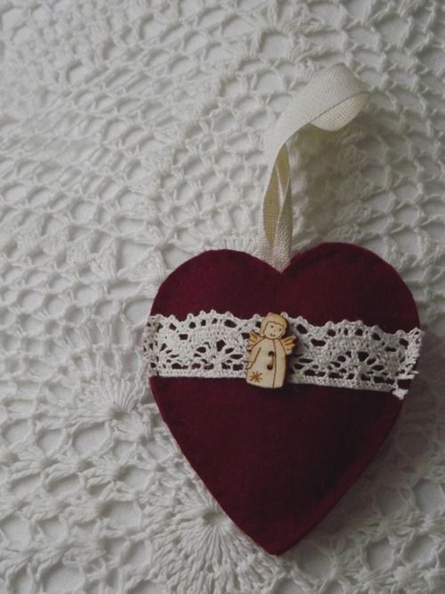 Little Christmas Heart with angel