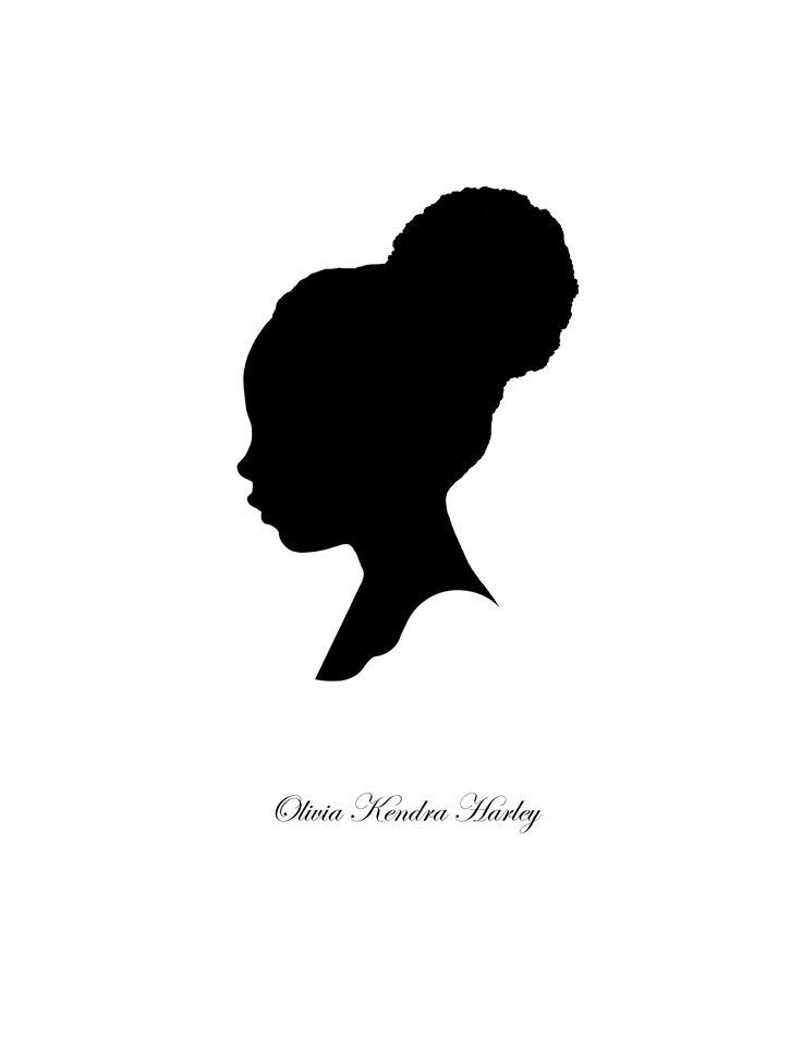 black woman silhouette - clipart