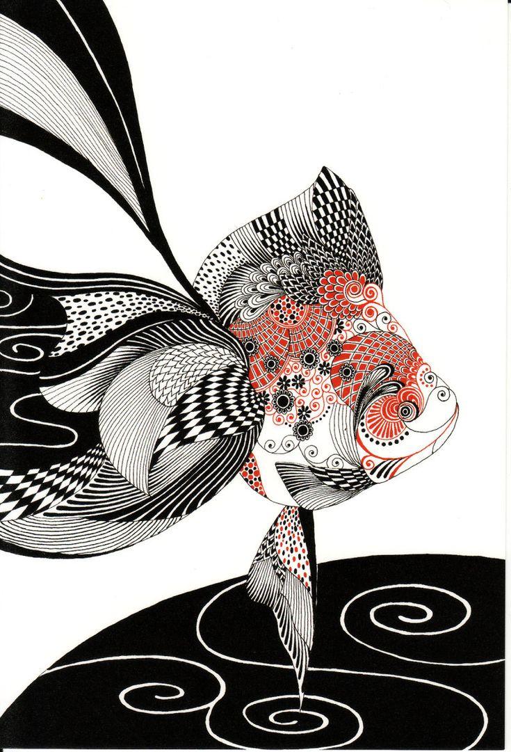 宇宙シリーズ/PECHUの画像 | 黒い金魚と白い象