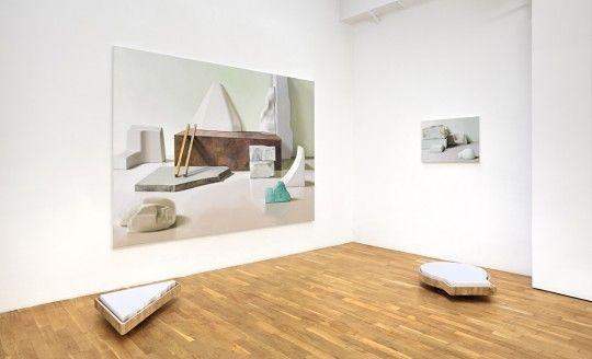 Maude Maris, vue de l'exposition « Réserve lapidaire » © Galerie Isabelle Gounod