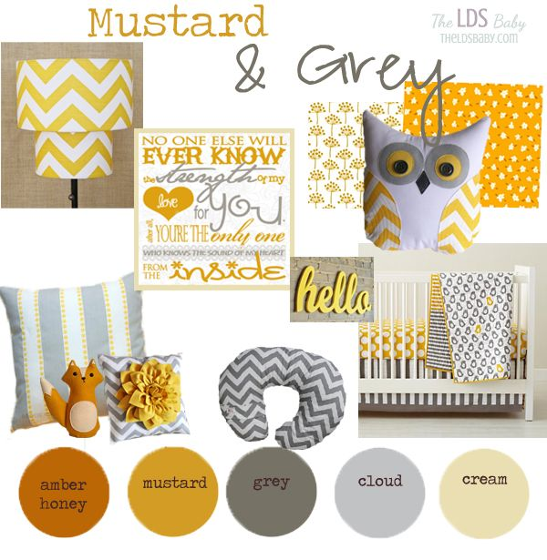 Love these colours Mustard & Grey