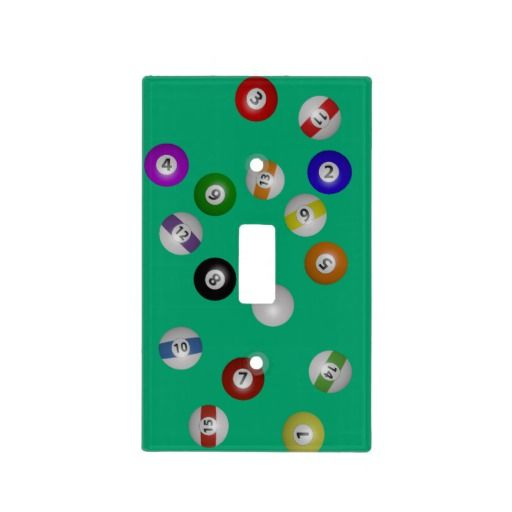 Pool Table And Balls Light Switch Cover
