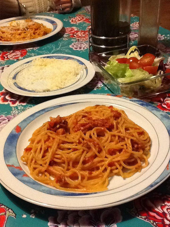 Spaghetti amatriciana. www.poderecerale.com
