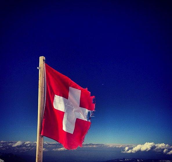 The top of Jungfraujoch mountain in Switzerland (3454m).