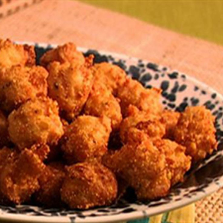 Try this Corn and Shrimp Fritters with Cucumber Remoulade recipe by Chef Anna Olson. This recipe is from the show Fresh.