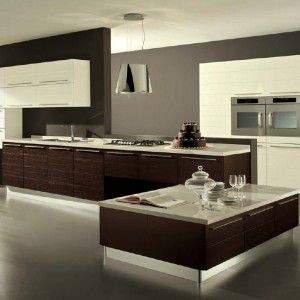 Wonderful Super Modern Kitchen Looks With Minimalist Interior And Furniture Design With Wooden Accent a part of Amazing Ultra Modern Kitchen Design Ideas With Unusual Wooden Mixed Marble Kitchen Table Ideas In Gray Parquet Floor under Interior