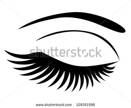Long Eyelashes Stock Vectors Amp Vector Clip Art