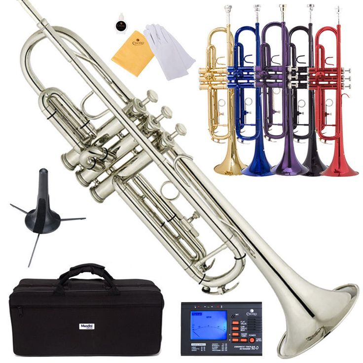 For serious?? I would have rocked this at band camp. Mendini Bb Trumpet Gold Silver Black Blue Purple Red +Tuner+Case+CareKit #Mendini