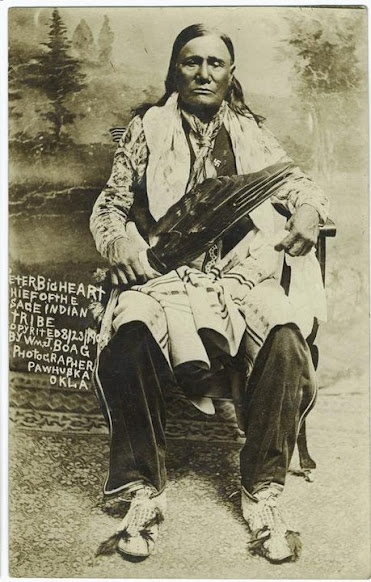 Red Eagle (aka Peter Big Heart), a chief of the  Osage Nation.  1909. No additional information.